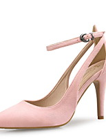 cheap -Women's Sandals Spring / Fall Pumps Pointed Toe Party & Evening Office & Career Leopard Pigskin Almond / Blue / Pink