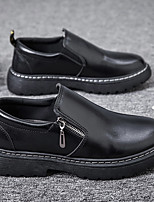 cheap -Men's Summer Daily Loafers & Slip-Ons Faux Leather Breathable Non-slipping Wear Proof Black