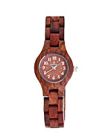 cheap -Women's Quartz Watches Quartz Casual Water Resistant / Waterproof Wood Analog - Red