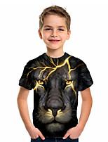 cheap -Kids Boys' Basic Holiday Geometric Print Short Sleeve Tee Black