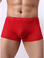 cheap -Men's Mesh Boxers Underwear - Normal Low Waist White Black Blue M L XL