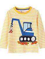 cheap -Kids Boys' Street chic Striped Geometric Long Sleeve Tee Yellow