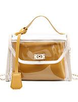 cheap -Women's Zipper PU Leather Bag Set 2020 Solid Color 2 Pieces Purse Set Black / Blue / Yellow