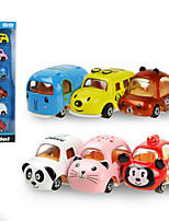 cheap -Vehicle Playset Construction Truck Toys Friction Vehicle Mini Cat Mouse Drop-resistant Alloy Mini Car Vehicles Toys for Party Favor or Kids Birthday Gift 6 pcs / Kid's