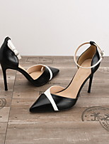 cheap -Women's Heels Spring / Summer Stiletto Heel Pointed Toe Daily PU Nude / White / Black