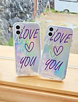cheap -Apple Case For iPhone7 8 7plus 8plus  XR XS XSMAX  X SE 11 11Pro 11ProMax Pattern Back Cover Word Phrase TPU