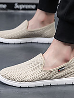 cheap -Men's Summer / Fall Sporty / Casual Daily Loafers & Slip-Ons Running Shoes / Fitness & Cross Training Shoes Tissage Volant Breathable Wear Proof Black / Beige / Gray