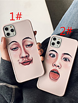 cheap -Case For Apple scene graph iPhone 11 11 Pro 11 Pro Max Photo frame private model series funny expression pattern TPU material IMD process fine matte mobile phone case