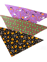 cheap -Dog Cat Bandanas & Hats Dog Bandana Dog Bibs Scarf Cartoon Party Cute Party Halloween Dog Clothes Adjustable Costume Fabric L