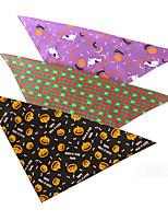 cheap -Dog Cat Bandanas & Hats Dog Bandana Dog Bibs Scarf Cartoon Party Cute Party Halloween Dog Clothes Adjustable Costume Fabric L