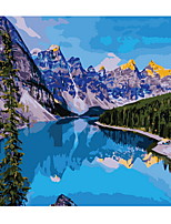 cheap -Frame Mountain Lake DIY Painting By Numbers Landscape Handpainted Oil Painting Modern Home Wall Art Canvas Painting Art
