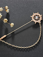 cheap -Alloy Brooches & Pins with Chain / Crystals / Rhinestones 1 Piece Wedding / Daily Wear Headpiece