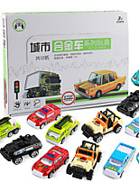 cheap -Pull Back Car / Inertia Car Pull Back Vehicle Mini Military Vehicle Police car Fire Truck Simulation Drop-resistant Alloy Mini Car Vehicles Toys for Party Favor or Kids Birthday Gift 12 pcs / Kid's