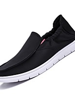 cheap -Men's Summer Daily Sneakers Canvas Black / Khaki / Gray