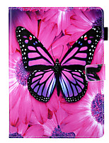cheap -Case For Samsung Galaxy Samsung TAB E 9.6 T560  T561  T565  T567V 360 Rotation / Shockproof  Magnetic Full Body Cases Word  Phrase  Butterfly PU Leather  TPU