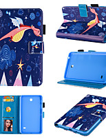 cheap -Case For Samsung  T280  T110 T230   360 Rotation  Shockproof  Magnetic Full Body Cases Animal  Cartoon  Flower PU Leather TPU