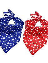 cheap -Dog Cat Bandanas & Hats Dog Bandana Dog Bibs Scarf Stars Casual / Sporty Cute Party Sports Dog Clothes Adjustable Red Blue Costume Cotton