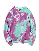 cheap -Women's Sweatshirt Tie Dye Casual Purple M L XL XXL