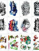 cheap -LITBest 6 Sheets Randomly Temporary Tattoos Tattoo Designs Half Arm Tattoo Sleeves for Men WomenWaterproof Tattoo Stickers TH361-TH369