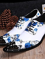 cheap -Men's Dress Shoes Summer / Fall Daily Party & Evening Oxfords Cowhide Handmade White