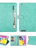 cheap -Case For Apple iPad Mini 321 iPad Mini 4 iPad Mini 5 Card Holder Shockproof Flip Back Cover Solid Colored PU Leather