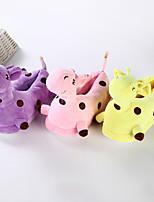 cheap -Adults' Kigurumi Pajamas Slippers Giraffe Anime Onesie Pajamas Plush Purple / Yellow / Pink Cosplay For Men and Women Animal Sleepwear Cartoon Festival / Holiday Costumes
