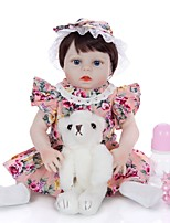 cheap -KEIUMI 19 inch Reborn Doll Baby & Toddler Toy Reborn Toddler Doll Baby Girl Gift Cute Washable Lovely Parent-Child Interaction Full Body Silicone 19D09-C380-T19 with Clothes and Accessories for