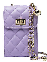 cheap -Women's Bags PU Leather Crossbody Bag Chain for Daily White / Black / Purple