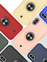 cheap -Case For Apple iPhone 6 6s 7 8 6plus 6splus 7plus 8plus X XR XS XSMax SE(2020) iPhone 11 11Pro 11ProMax Shockproof Ring Holder Back Cover Solid Colored TPU PC Metal