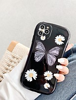 cheap -Case For Apple iPhone 7 8 7plus 8plus X XR XS XSMax SE(2020) iPhone 11 11Pro 11ProMax Shockproof  Pattern Back Cover Butterfly  Flower TPU