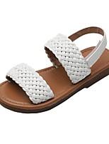 cheap -Girls' Sandals Comfort PU Little Kids(4-7ys) White / Black / Brown Summer