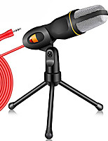 cheap -Condenser Microphone 3.5mm Plug Home Stereo MIC Desktop Tripod for PC YouTube Video Skype Chatting Gaming Podcast Recording