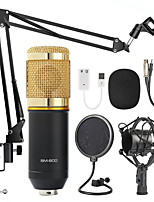 cheap -BM 800 Karaoke Microphone BM800 Studio Condenser Mikrofon Mic BM-800 For Ktv Radio Braodcasting Singing Recording Computer V8 Voice Card (Optional)