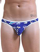 cheap -Men's Basic G-string Underwear - Normal Low Waist Light Blue Black Blue M L XL