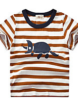 cheap -Kids Boys' Street chic Striped Animal Short Sleeve Tee Red