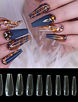 cheap -Natural Acrylic Nail Tips French Nail Tip  500pcs Fake Nails Half Cover False Nail with Case for Nail Salons and DIY Nail Art 10 Sizes