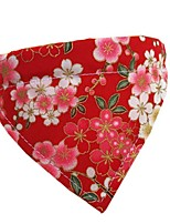 cheap -Dog Cat Bandanas & Hats Dog Bandana Dog Bibs Scarf Flower Casual / Sporty Cute Party Sports Dog Clothes Adjustable White Black Red Costume Fabric XS S M L XL