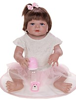 cheap -KEIUMI 22 inch Reborn Doll Baby & Toddler Toy Reborn Toddler Doll Baby Girl Gift Cute Lovely Parent-Child Interaction Tipped and Sealed Nails Full Body Silicone KUM23FS01-RS10 with Clothes and