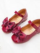 cheap -Girls' Flats Comfort PU Little Kids(4-7ys) Wine / Black / Pink Summer