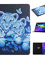 cheap -Case For Apple iPad 10.2 iPad Pro 11 2020 iPad Air 10.5 2019 Card Holder with Stand Pattern Full Body Cases Animal PU Leather iPad Mini 12345 2017 2018