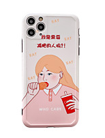 cheap -Case For Apple iPhone 7 8 7plus 8plus x xs xr xsmax SE 11 11pro 11promax Pattern Back Cover Food Word Phrase Cartoon TPU