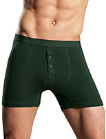 cheap -Men's Basic Boxers Underwear - Normal Mid Waist Army Green Gray M L XL