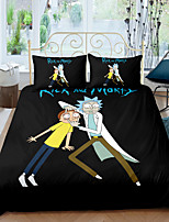 cheap -Home Textiles 3D Bedding Set  Duvet Cover with Pillowcase 2/3pcs Bedroom Duvet Cover Sets  Bedding Rick and Morty TV