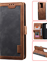 cheap -Case For Samsung Galaxy S9 S9PLUS S10 S10E S10PLUS S20 S20plus S20ultra NOTE10 NOTE10 PRO A10 A10S A20 a30 A20S A20E Card Holder Flip Magnetic Full Body Cases Solid Colored PU Leather TPU Shockproof