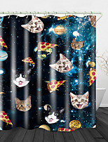 cheap -Cute Cat Head Digital Print Waterproof Fabric Shower Curtain For Bathroom Home Decor Covered Bathtub Curtains Liner Includes With Hooks