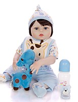 cheap -KEIUMI 19 inch Reborn Doll Baby & Toddler Toy Reborn Toddler Doll Baby Girl Gift Cute Lovely Parent-Child Interaction Tipped and Sealed Nails Full Body Silicone 19D11-C21-T06 with Clothes and