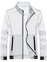 cheap -Men's Hiking Jacket Hiking Windbreaker Outdoor Sunscreen Breathable Quick Dry Ultra Light (UL) Jacket Top Nylon Elastane Camping / Hiking Fishing Climbing White / Black / Grey / Summer