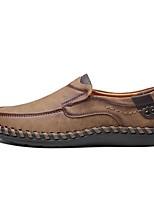 cheap -Men's Summer Daily Loafers & Slip-Ons PU Black / Khaki / Brown