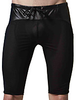 cheap -Men's Normal Nylon Touch of Sensation Long Johns Solid Colored Mid Waist