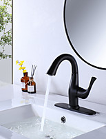 cheap -Bathroom Sink Faucet British Royal Soldier Style Single Handle Single Hole 8.2 Inch Bathroom Sink Faucet Deck Mount Hot and Cold Lavatory Faucet Polished Chrome Black